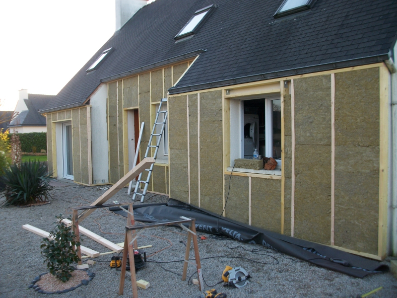 Isolation par l 39 ext rieur for Isolation maison exterieur bardage bois