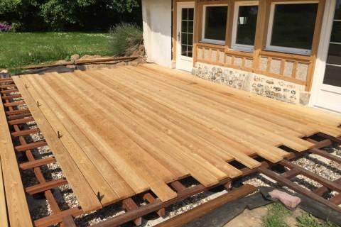 Terrasse en bois en Normandie