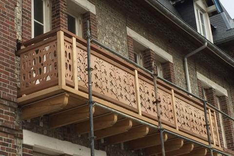 Sauvegarde balcon en bois Normandie