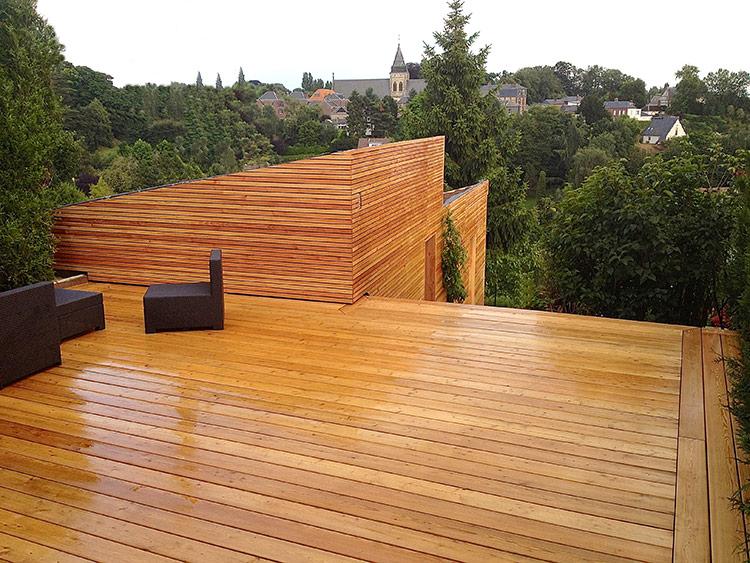Terrasse en mélèze en Normandie par Aviso