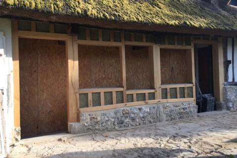 Isolation en Béton de Chanvre pour une restauration de colombages en Normandie